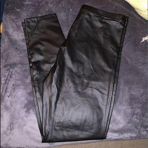 Pants - Forever 21 Black leather leggings